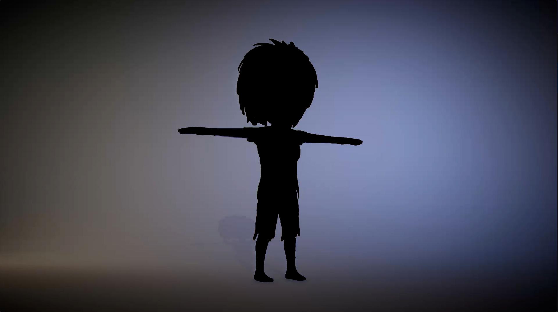 A Silhouette of Pri' the zombie