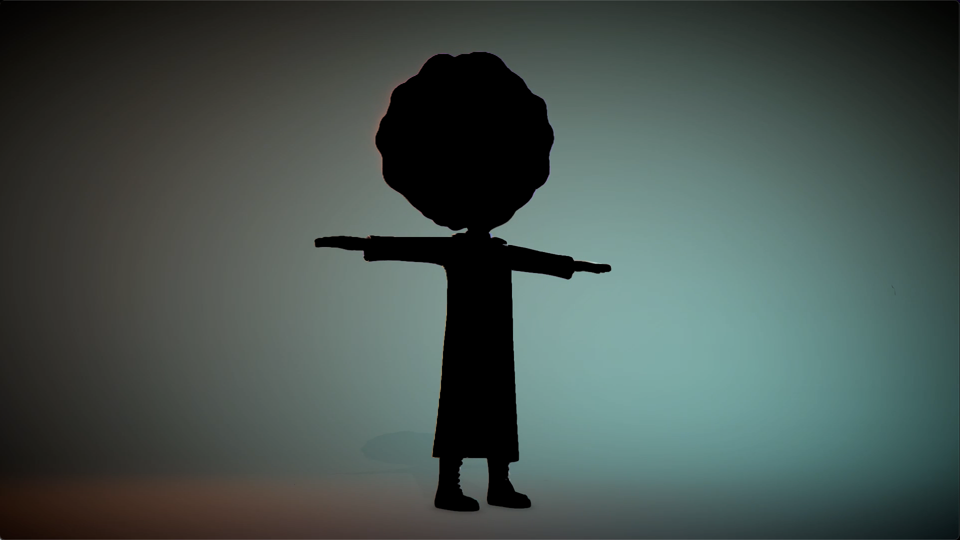 A silhouette of DoC, the mad scientist